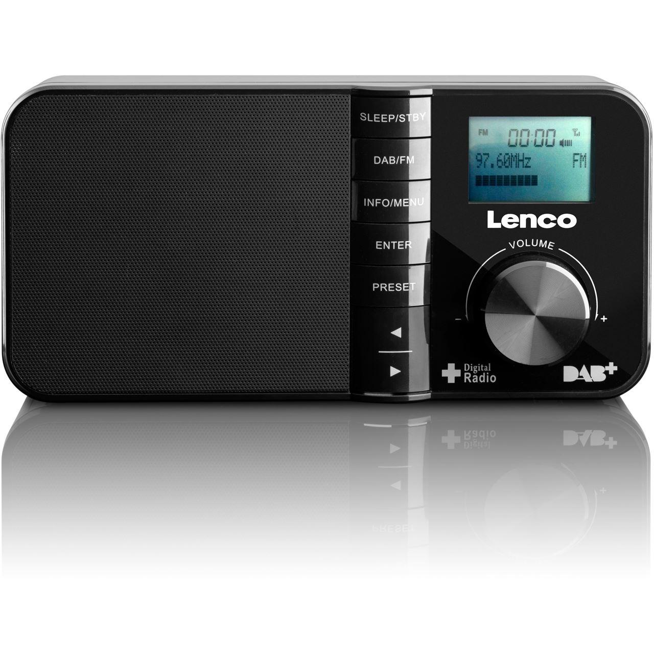 lenco pdr 03 dab radio mit lcd display radios. Black Bedroom Furniture Sets. Home Design Ideas