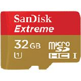 32 GB SanDisk Extreme Plus 80MB/s microSDHC Class 10 U3 Retail inkl. Adapter