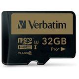 32 GB Verbatim 44033 microSDHC Class 10 U3 Retail inkl. Adapter auf SD