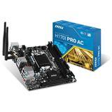 MSI H170I PRO AC Intel H170 So.1151 Dual Channel DDR Mini-ITX Retail