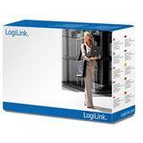 (€3,83*/1m) 1.80m LogiLink Stromkabel gewinkelt Schutzkontakt Stecker auf Kaltgeräte Stecker C13 Grau