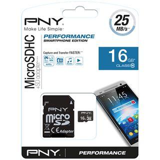 16 GB PNY Performance microSD Class 10 Retail inkl. Adapter auf SD