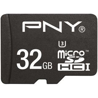 32 GB PNY Turbo Performance microSDHC Class 10 U3 Retail inkl. Adapter auf SD