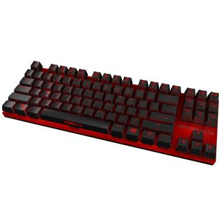 Ozone Strike Battle Tastatur MX Red, US Layout schwarz/rot