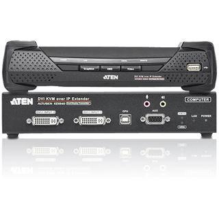 ATEN Technology Altusen KE6940 2-fach DVI KVM Over IP Extender für Dual Consolen