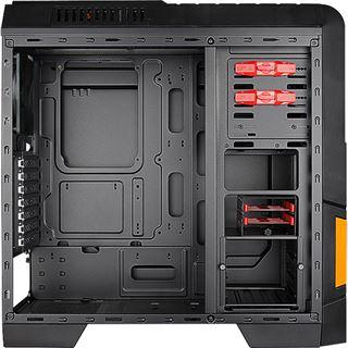 Cooltek GT-04 Orange mit Sichtfenster Midi Tower ohne Netzteil schwarz