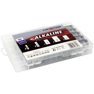 Ansmann 55er-Vorratsbatteriebox 24 x Micro-AAA, 20 x Mignon-AA, 5 x Baby-C, 4 x Mono-D, 2 x 9V-E-Block (1520-0005)