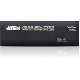 ATEN Technology VS0102 2-fach VGA-A/V-Splitter