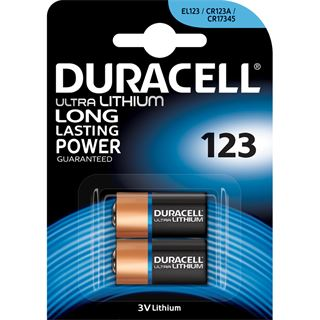 Duracell Ultra CR123A Lithium Batterie 3.0 V 2er Pack