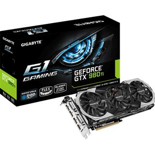6GB Gigabyte GeForce GTX 980 Ti Gaming G1 Aktiv PCIe 3.0 x16 (Retail)