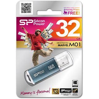32 GB Silicon Power Marvel M01 blau USB 3.0