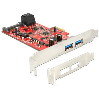 Delock 89389 4 Port PCIe 2.0 x1 inkl. Low Profile Slotblech / Low Profile retail
