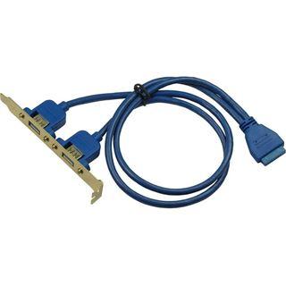 Inter-Tech Bracket 2x USB 3.0 auf 1x USB 3.0 20Pin