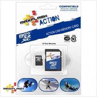 128 GB MAXFLASH Action microSDXC Class 10 Retail