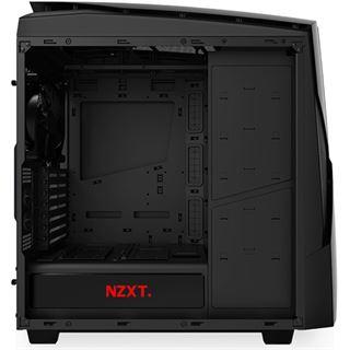 NZXT Noctis 450 mit Sichtfenster Midi Tower ohne Netzteil schwarz/rot