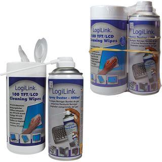 LogiLink Druckluft Universal Reinigungskit 400ml/100 Stück Spraydose (RP0007)