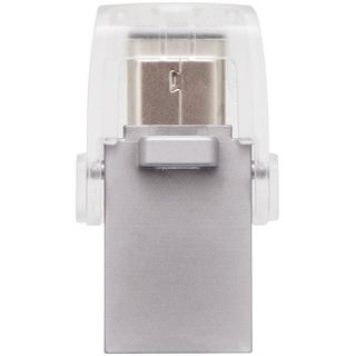 16 GB Kingston DataTraveler microDuo silber USB 3.1 und Typ-C