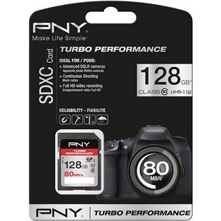 128 GB PNY Turbo Performance SDHC Class 10 U3 Retail