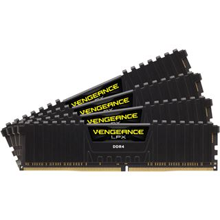 16GB Corsair Vengeance LPX schwarz DDR4-3000 DIMM CL15 Quad Kit