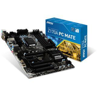 MSI Z170A PC MATE Intel Z170 So.1151 Dual Channel DDR4 ATX Retail