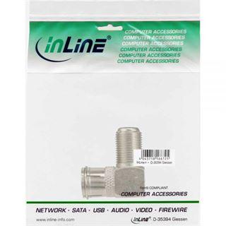 InLine Adapter F-Quick-Stecker (SAT) auf F-Buchse (SAT) gewinkelt