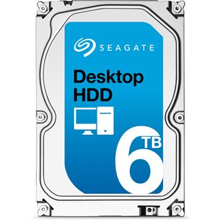 "6000GB Seagate Desktop HDD ST6000DM001 128MB 3.5"" (8.9cm) SATA 6Gb/s"