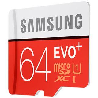 64 GB Samsung EVO Plus microSDXC Class 10 U1 Retail inkl. Adapter auf SD