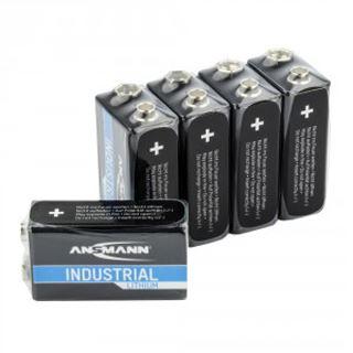 Ansmann Lithium-Industriebatterie 9V-E-Block 5er-Pack (1505-0002)