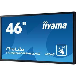 """46"""" (116,84cm) iiyama ProLite TH4664MIS-B2AG Touch schwarz 1920x1080 1xDP / 1xDVI / 1xHDMI 1.3 / 1xSCART"""