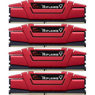 16GB G.Skill RipJaws V rot DDR4-3000 DIMM CL15 Quad Kit