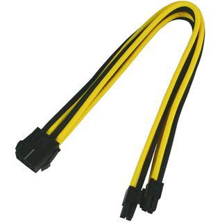 Nanoxia 8-Pin EPS Verlängerung 30 cm schwarz/gelb