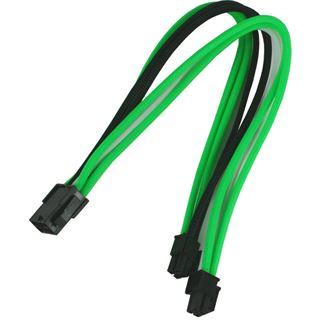 Nanoxia 8-Pin EPS Verlängerung 30 cm grün/weiß/schwarz