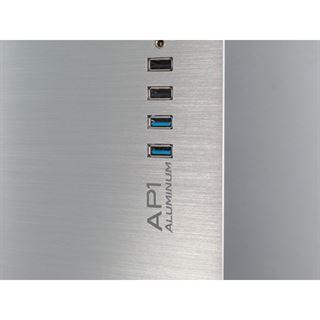 Inter-Tech AP-1 Aluminium Midi Tower ohne Netzteil Alu silber