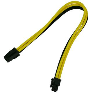 0,30m Nanoxia 4-Pin P4 Verlängerung schwarz/gelb