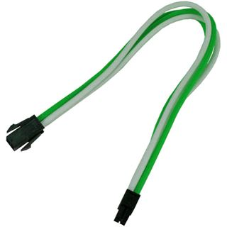Nanoxia 30cm 4-Pin P4 Verlängerung grün/weiß