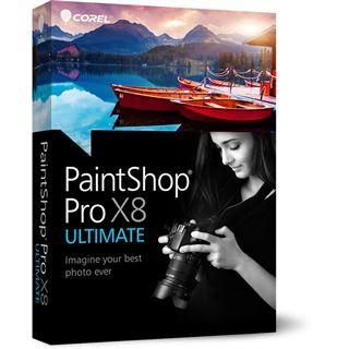 Corel Corel PaintShop Pro X8 Ultimate 32 Bit Deutsch Grafik Vollversion 1 User PC (DVD)