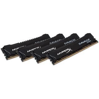 32GB Kingston HyperX Savage DDR4-3000 DIMM CL15 Quad Kit