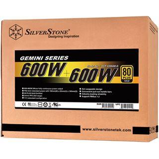 2x 600 Watt Silverstone SST-GM600-G Non-Modular 80+ Gold