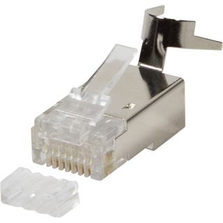 Logilink Modular Stecker Cat.6A RJ45 für Cat.7 Cat.6A und Cat.6 Kabel 10 Stück geschirmt
