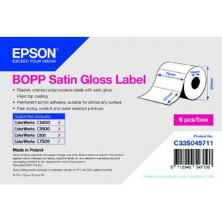 Epson Bopp Satin Glosslabel 76x127mm