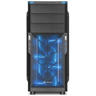Sharkoon T3-W blau Midi Tower ohne Netzteil blau