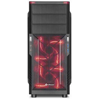Sharkoon T3-W rot Midi Tower ohne Netzteil schwarz
