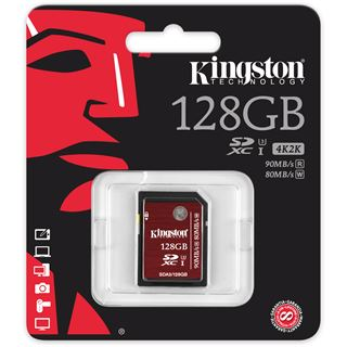 128 GB Kingston SDXC Class 10 U3 Retail