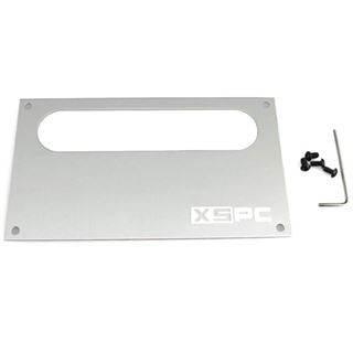 XSPC Dual Bayres/Pump Faceplate silber