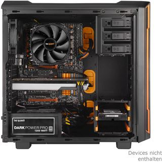be quiet! Silent Base 600 gedämmt Midi Tower ohne Netzteil schwarz/orange