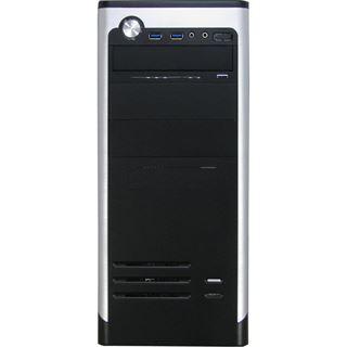 Inter-Tech AOC-7740 Redeye USB 3.0 Midi Tower ohne Netzteil schwarz/silber