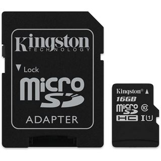 16 GB Kingston SDC10G2 microSDHC Class 10 Retail inkl. Adapter