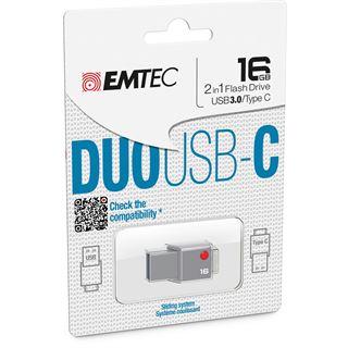 16 GB EMTEC DUO USB-C grau USB 3.0 und Typ C