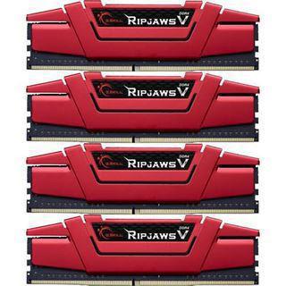 64GB G.Skill RipJaws V rot DDR4-2800 DIMM CL15 Quad Kit