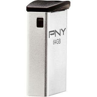 64 GB PNY Micro M2 Attache silber USB 2.0
